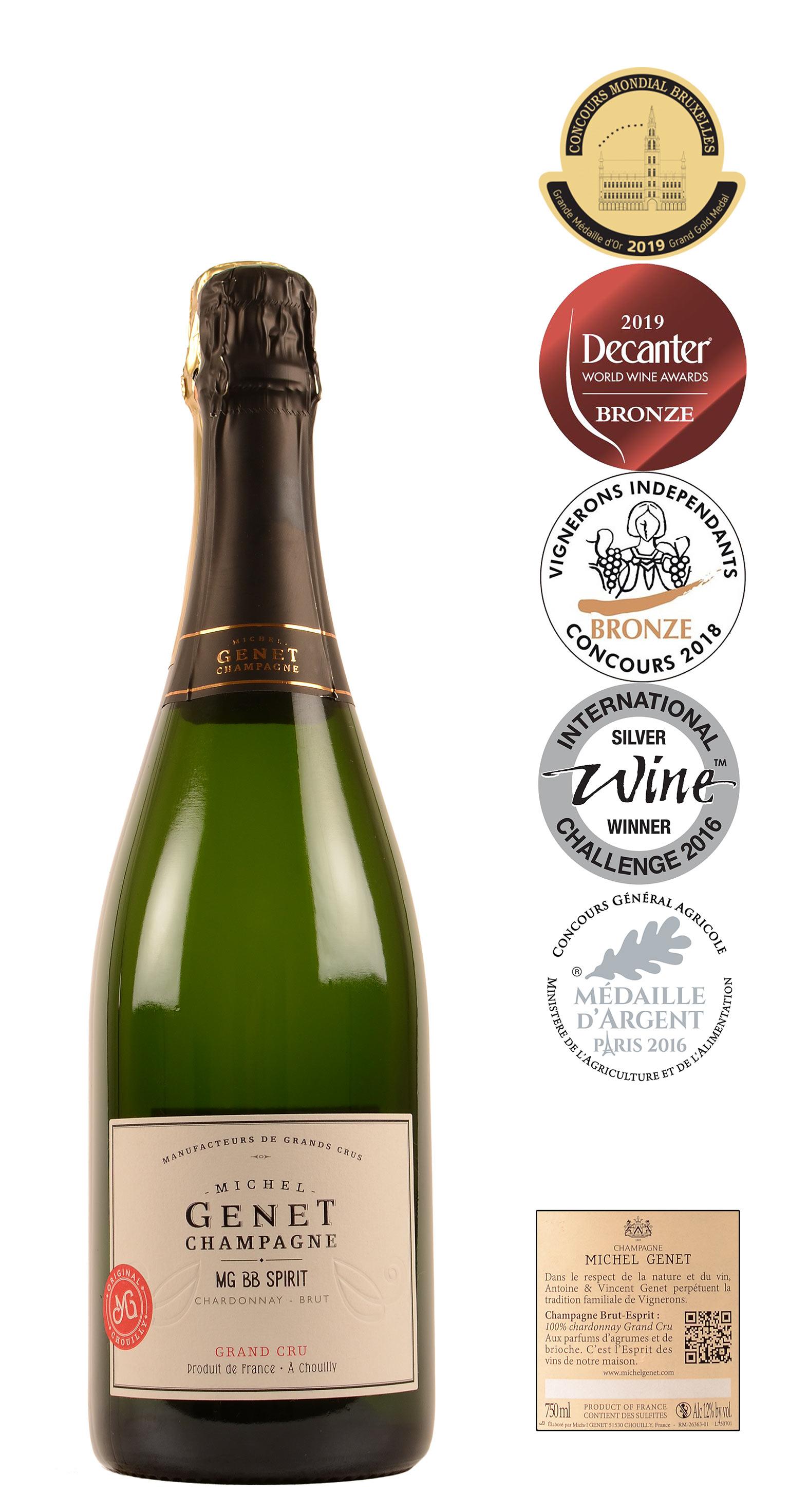 Champagne Michel Genet Grand Cru Spirit Brut Esprit 075 Ltr