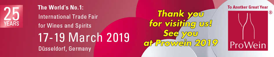 See you at Prowein 2019