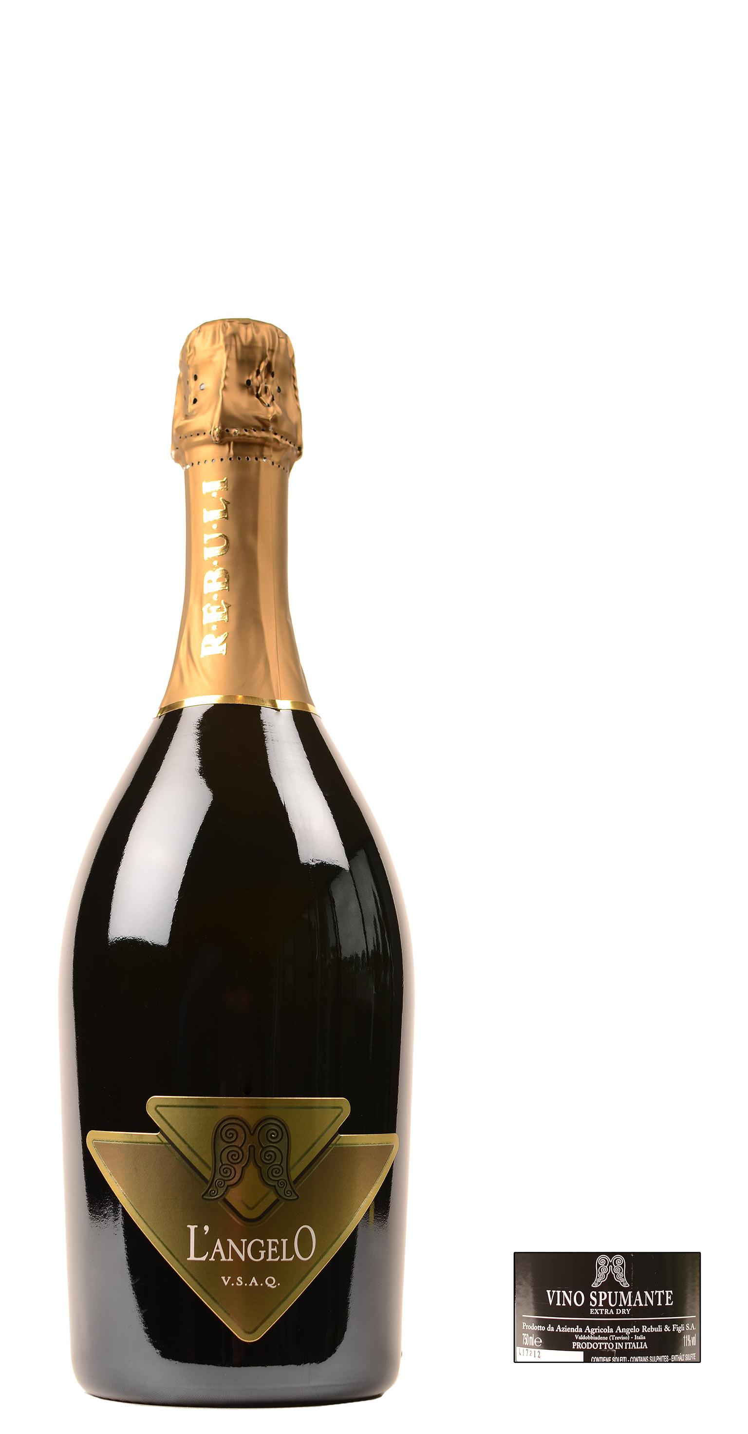 Rebuli l 39 angelo spumante extra dry prosecco glera en chardonnay 0 75 ltr bianco - Ventilatie grot een vin ...