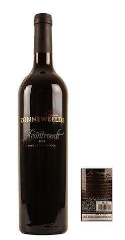 Avontroodt is het paradepaardje van de Zonneweelde range. Deze wijn is een blend van voornamelijk Shiraz, Merlot en  Petit Verdot vergezeld door Cabernet Franc en Malbec. Het resultaat is een mooi gekleurde, complexe maar fruitige blend.